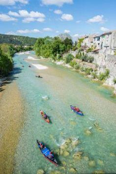 Canoe sur la Drome entre Crest et Saillans