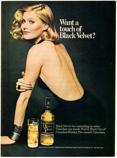 1975 Print Ad Want A Touch of Black Velvet The Smooth Canadian | eBay