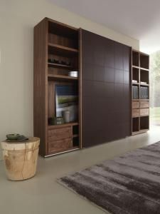 Brooklyn 2009 Wall Unit  Upholstered in leather