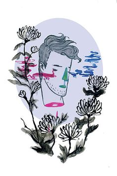 """""""ju"""" from The Four Gentlemen postcard series Postcards available for purchase on http://www.lydiafu.com/shop"""