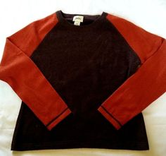 Neiman Marcus 100% Cashmere Sweater Womens Size XL Brown Orange Raglan Sleeve #NeimanMarcus #Crewneck #AllOccasion