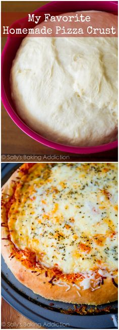 The BEST pizza crust - fluffy, crisp, quick, and easy to make! Just bought a pizza maker and this dough crust was the best! Homemade Pizza Crust Recipe, Pizza Dough Recipe Quick, Best Homemade Pizza, Best Pizza Dough, Pizza Dough Recipe With Cornmeal, Homeade Pizza Dough, Bread Crust Recipe, Cornmeal Pizza Crust, Homemade Dog Food