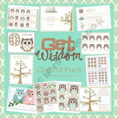 Owl Preschool Pack