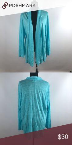 00a68cbb7e J Jill Love Linen Turquoise Drape Cardigan Really pretty turquoise cardigan  100% linen. Beautiful