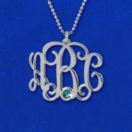 This exquisite Monogram Necklace is  fully personalized with any initials!  The monogram necklace is one of the hottest personalized jewelry items trending today. jewelry