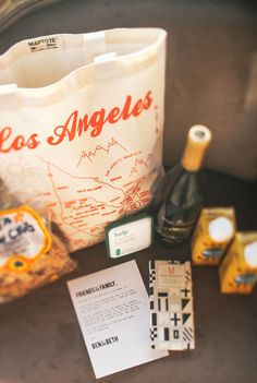DIY - LA welcome kit for out-of-town guests