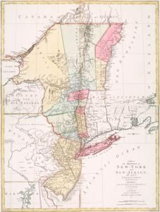 A map of the provinces of New-York and New Jersey : with a part of Pennsylvania and the Province of Quebec / from the to... (1777) #map #NewYork #NewJersey