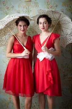style | Sydney Bridesmaids Dress in Hibiscus Red Parasol Sun Umbrella available at www.parasolheaven.com $37.99. Assorted colors and styles!