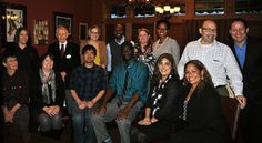 7th Annual L.E.A.D. (Learn, Engage, Advance Duluth) Academy Participants Graduate: Pictured from left to right seated: Eva Kuhn, Jeannie Masterson, Daniel Luh, Jermaine Shakespeare, Farida Nurani and Amy Schmidt Brooks. Left to right standing: Margie Pozin, John Howard, Kristen Hill, Taiwo Jaiyeoba, Sandi Strickland, Nicole Lester, Erich Kimmel and Bruno Taillefer. Not Pictured: Louis Tseng and Charles Kim.