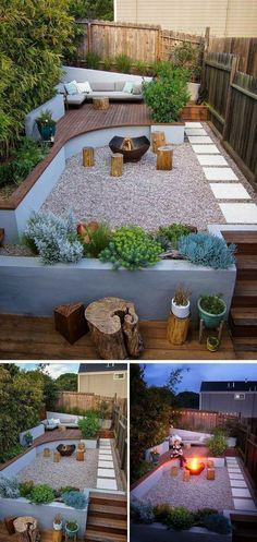 Interesting and creative garden path design ideas provides great inspirations for improving yard landscaping and garden design. #backyardlandscapingideas Small Backyard Landscaping, Modern Landscaping, Backyard Patio, Landscaping Software, Pergola Patio, Landscaping Contractors, Wooded Backyard Landscape, Small Patio, Small Backyards