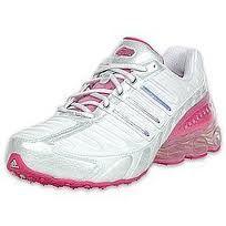 Addidas pink & white bounce