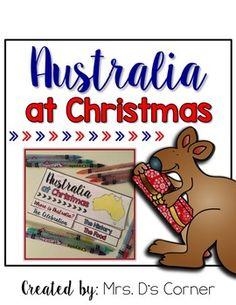 FREE Christmas in Australia Flipbook { 2 included }