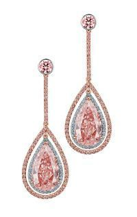 FANCY PINK DIAMOND EARRINGS. DeGems   See the Rest of the Outfit and Description on this board.  -  Gabrielle