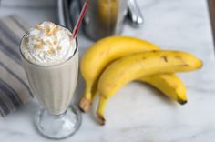 Bananas Foster Milkshake (Alcohol optional)