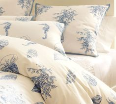 Gorgeous Pottery Barn bedding and other lovely 'coastal' decorating ideas here!