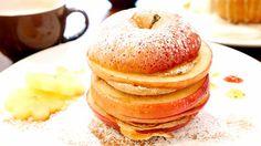 りんごを丸ごと1個使ったインパクト大の「りんごスタックパンケーキ」をelicafe(エリカフェ)で食べてきた - GIGAZINE