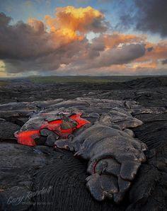 Pahoehoe lava toe