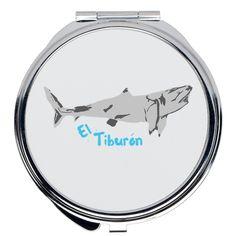 El Tiburon Compact Mirror - Round / 2x2 inch