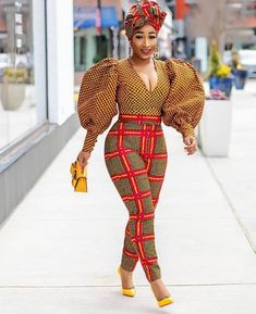 African print African wax Ankara 2 piece suit African print blouse and pants - African fashion African Fashion Ankara, Latest African Fashion Dresses, African Inspired Fashion, African Print Dresses, African Print Fashion, Africa Fashion, African Style Clothing, African Prints, African Fashion Designers