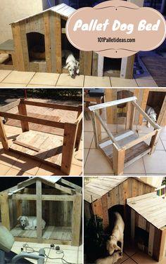 #Wooden #Pallet Dog House Plans - 101 Pallet Ideas