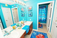 kids bathroom ideas with finding nemo theme