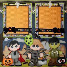 ELITE4U PMBY JULIE CHILD premade scrapbook layout pages 4 album paper piecing