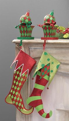 Browse our selection of RAZ Stocking Holders, Christmas Stockings Christmas Decorations here at Trendy Tree - Raz trendy and whimsical Christmas decoration and stunning home accessories. Elf Christmas Decorations, Whimsical Christmas, Christmas Mantels, Christmas Stocking Pattern, Christmas Stocking Holders, Christmas Sewing, Grinch Christmas, Felt Christmas, Christmas Elf