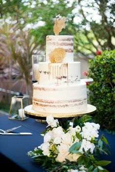 """Black and Gold """"Bumble"""" Bee Inspired South Tampa Wedding Wedding Themes, Wedding Cakes, Wedding Events, Wedding Ideas, Bumble Bee Cake, Bumble Bees, Bee Cakes, White Baby Showers, Bee Party"""