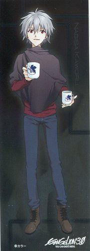 Neon Genesis Evangelion EVA shiny sticker official Japan Nagisa Kaworu