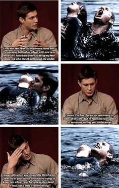 [gifs] Interview about 1x3 Dead in the Water. i love this interview. really shows who jensen is.