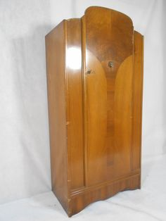 VINTAGE ART DECO PERIOD 1930s / 1940s CHILDREN'S WARDROBE, JUST 155CM - BRISTOL in Antiques, Antique Furniture, Armoires/ Wardrobes | eBay