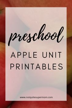 You will adore these cute apple printables! This packet is loaded with fun learning activities that will keep your preschooler engaged & learning. Learning Through Play, Learning Activities, Kids Learning, Preschool Special Education, Kids Education, Circle Time Board, Preschool Schedule, Apple Unit, Apple Activities
