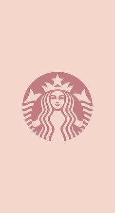 スターバックスのロゴ for ローズゴールド iPhone壁紙 Wallpaper Backgrounds iPhone6/6S and Plus  Starbucks Logo for Rose Gold iPhone Wallpaper