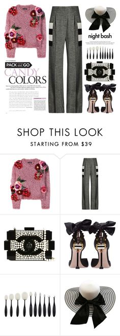 """Like a BOSS"" by ymociondesign ❤ liked on Polyvore featuring Dolce&Gabbana, MaxMara, Chanel, Miu Miu, Louis Vuitton, Winter, Pink, Flowers and blackandwhite"