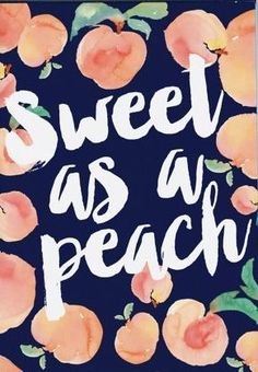 e37ad6e36800f Items similar to Sweet as a Peach - Typography - Watercolor - Kitchen Print  - Southern quotes - Preppy print - Preppy decor - Georgia Peach print on  Etsy
