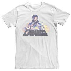 Men's Star Wars Lando Calrissian Collage Tee, Size: 3XL, White