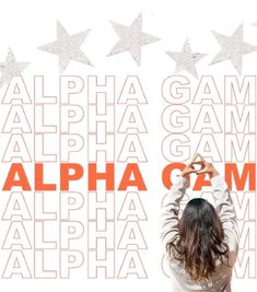 ALPHA GAMMA DELTA ☆ ST JOSEPH'S UNIVERSITY ☆ sorority hand sign graphic