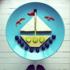 edible sailboat.