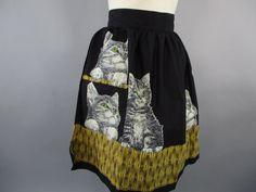 Vintage Half Apron, Kitten Apron 1950s Cat Print Kitchen Apron Cotton John  Wolf Hostess Apron, 50s Retro Apron Gift for Mom by LadyScarlettsVintage on Etsy