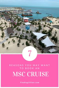 Here are 7 reasons why you may want to book an MSC cruise. Check out status match, Ocean Cay, decor and more offered by MSC. Best Cruise, Cruise Port, Cruise Ships, Cruise Travel, Cruise Vacation, Vacation Ideas, Cruise Excursions, Cruise Destinations, Family Friendly Cruises