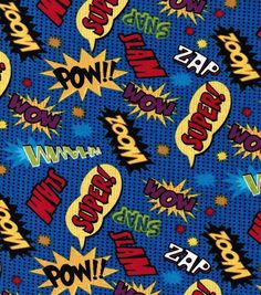 Purchased ***** Novelty Quilt Fabric-Comic Words