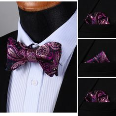 This is the perfect purple Bow tie @runit365 #elegance #bowtie