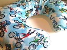 Dirt Bike Boppy slipcover by NaomiNaturals on Etsy, $20.00