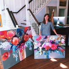 Christmas in September! Erin Gregory stopped by this morning with 14 beautiful new paintings, including both landscapes and florals! Come take a look before they're gone! @egregoryart #eringregory #atelier #chs #art #florals