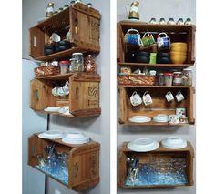 Decoração Criativa -caixote2 faça você mesmo decoração