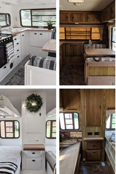 Camper renovating ideas and inspiration! Tips for renovating an RV. From an old motorhome to a vintage trailer. Turn your camper into a glamper! Font Disney, Caravan Makeover, Rv Redo, Travel Trailer Remodel, Camper Renovation, Remodeled Campers, Camper Trailers, Travel Trailers, Rv Living
