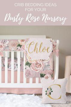 This list has tons of cute girl crib bedding ideas, check out the full list now! #cribbedding #mauvenursery #rosenursery #babygirlnursery Elephant Baby Bedding, Baby Girl Crib Bedding, Nursery Crib, Crib Bedding Sets, Dusty Pink, Dusty Rose, Rose Nursery, Girl Nurseries, Mauve