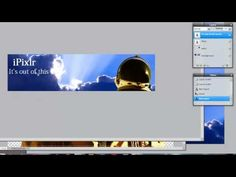 Pixlr Tutorial: How to Make a Banner (using layers, style options, and free transform) Photography Classes, Photography Editing, Photo Editing, Editing Photos, School Photography, Banner Drawing, How To Make Banners, Character Design Animation, Sunset Pictures