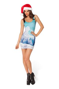 Minty Fresh Polar Bear Dress (48HR) by Black Milk Clothing