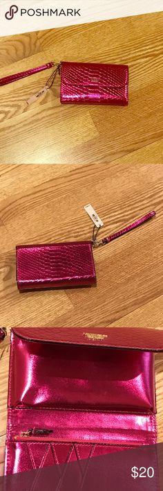 🌟NWT Victoria Secret Wallet/Wristlet Brand New With Tags Victoria Secret Wallet/Wristlet. Has lots of compartments on inside (see photos) Retails for $38.00 Victoria's Secret Bags Clutches & Wristlets